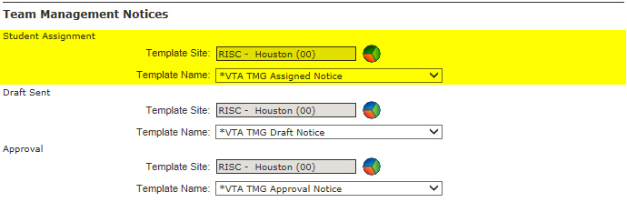 Team Management Notices for Supervisors